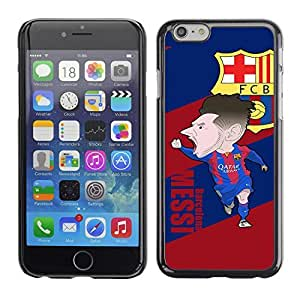 SoulCase / Apple Iphone 6 / Messi Barcelona FCB / Slim Black Plastic Case Cover Shell Armor