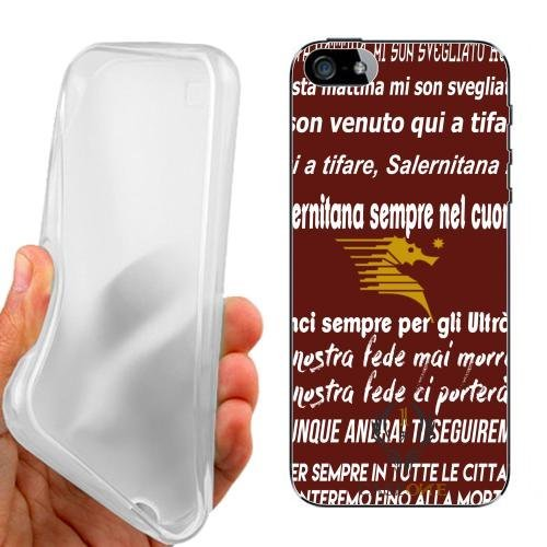 CUSTODIA COVER CASE CORO SALERNITANA ROSSO PER IPHONE 5 5G 5S