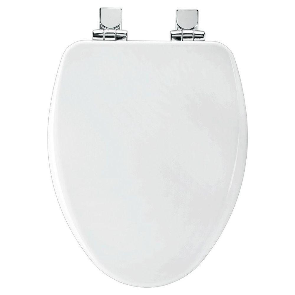 white wooden toilet seat soft close. Bemis 19170CHSL 000 Slow Close Elongated Closed Front Toilet Seat  White Elevators Amazon com