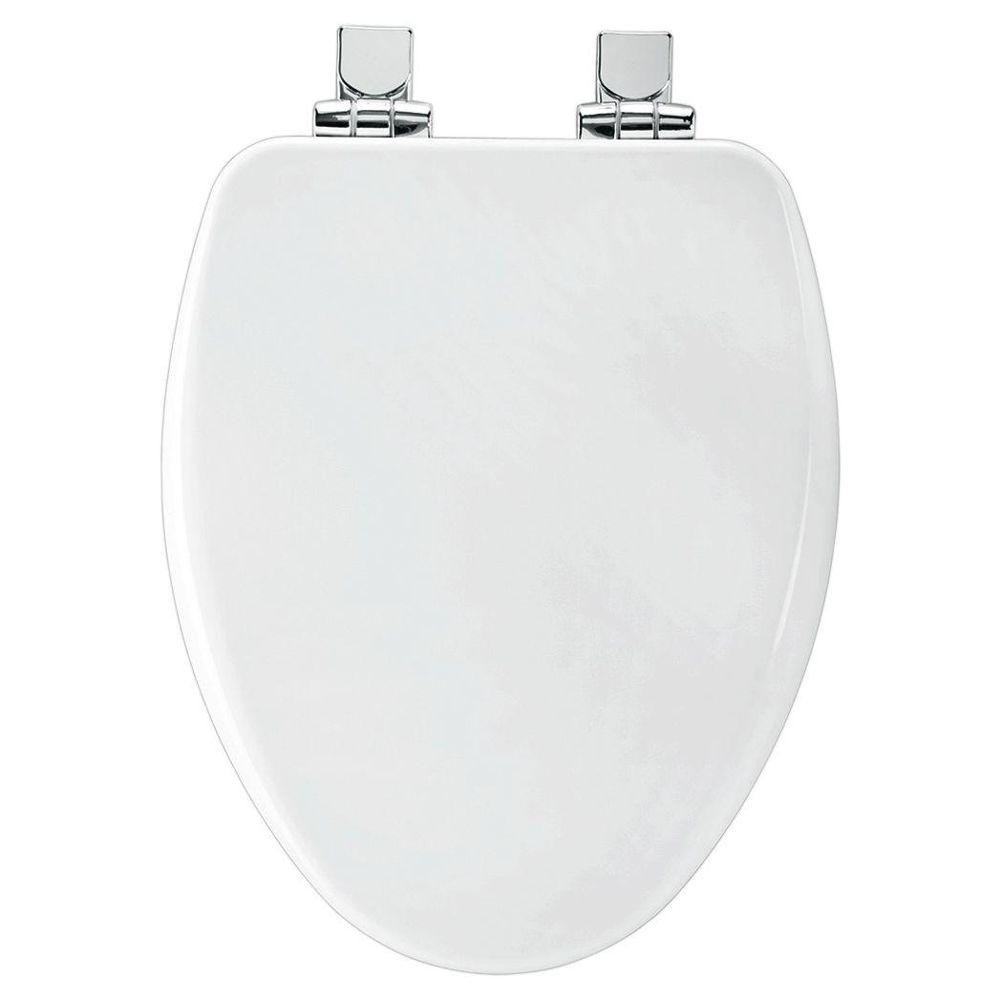Bemis 19170CHSL 000 Slow Close Elongated Closed Front Toilet Seat, White
