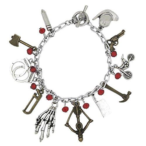 Walking Dead TV Series (11 Charms) Silvertone Charm Bracelet
