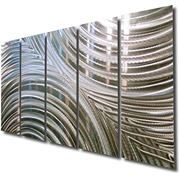 Giant Silver Metal Wall Sculpture   Metal Wall Art, Silver Wall Decor    Contemporary, Modern Silver Metal Wall Art Home Decor Accent    Synchronicity By Jon ...