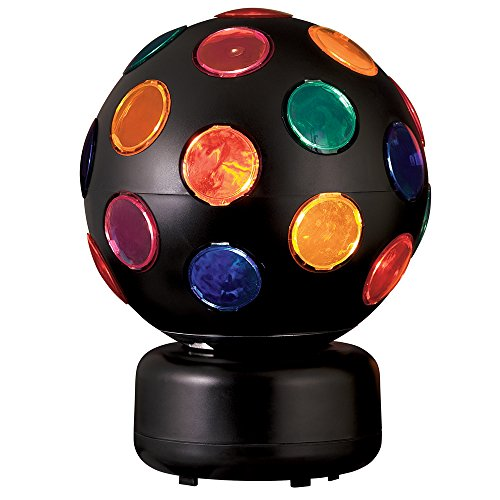 Catalina Lighting 17793-003 Contemporary Multi-Colored Round Spinning Disco Ball Light 8