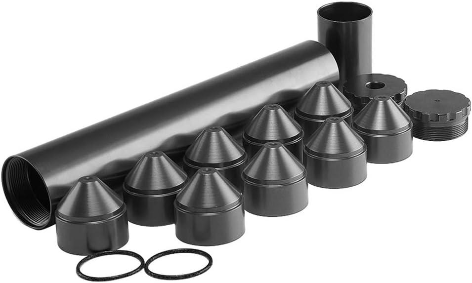 Hohe Qualit/ät Toygogo 10 Zoll Aluminium Auto Kraftstofffilter Kit 1//2-28 F/ür NAPA 4003 WIX 24003 Schwarz