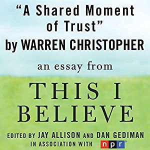 A Shared Moment of Trust Audiobook