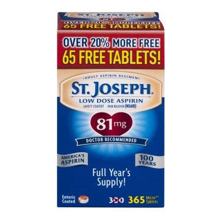 St. Joseph Safety Coated Aspirin (Pack of 5)