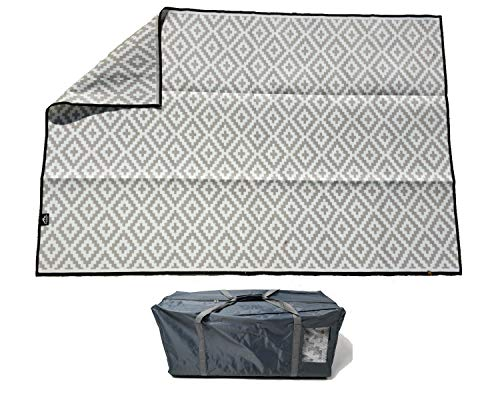 Garden and Outdoor Mountain Mat Earth-Friendly Outdoor RV Patio mat Size 8′ x 12′ & 8′ x 16′ for Campers, Campsites – Premium 5 mm Thick… outdoor rugs