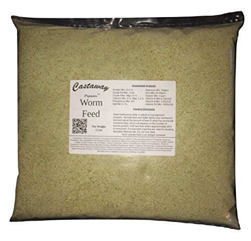 Castaway Organics 5 lbs Worm Feed (Worm Chow Food for All Composting and Bait Worms) ()