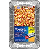 Reynolds Disposable Giant Aluminum Foil Pasta Pans – 20 x 12 Inch, 3 Count