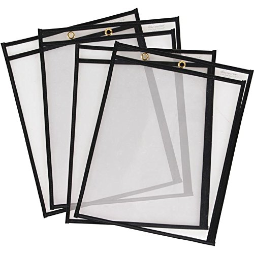 Really Good Stuff ReMarkable Dry Erase Sleeves TwoSide Opening Classroom Pack