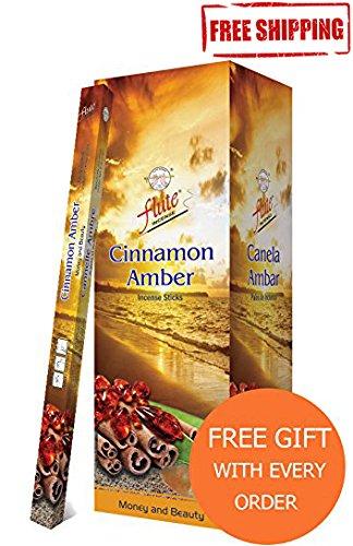 Whiff Sticks (Incense Sticks Flute Cinnamon Amber Agarbatti 200 Sticks Square Packets)