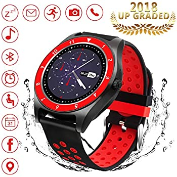 Bluetooth Smart Watch, WATCHOO Touch Screen Smart Wrist Watch with Camera Water-Resistant Fitness Tracker w/Pedometer Sports Smartwatch with SIM Card Slot ...