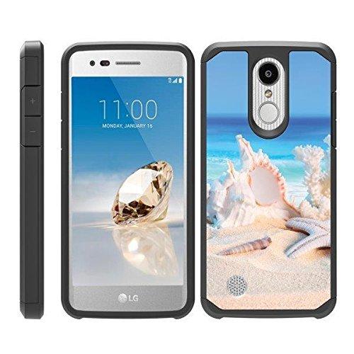 (TurtleArmor   Compatible for LG Aristo 3 Case   Zone 4   Tribute Empire   Risio 3   Hard Shell Impact TPU Case Hybrid Ocean Beach Design - Conch Shell)
