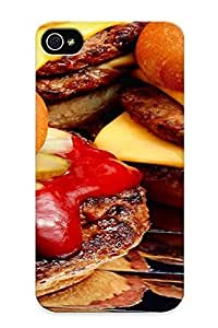 New Premium Resignmjwj Food Hamburgers Skin Case Cover Design Ellent Fitted For Iphone 4/4s For Lovers