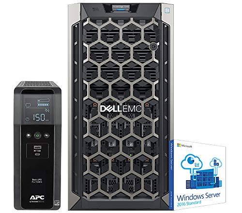 Dell PowerEdge T340 Tower Server for Dental Practices Including, Windows 2016 STD OS, APC UPS for Power Backup, Intel Xeon E-2124 4-Core 3.3GHz 8MB, 32GB DDR4 RAM, 8TB HDD, RAID (Exchange 2019 Virtualization Best Practices)