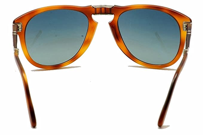Amazon.com: Persol Steve McQueen Polarized 714SM 96/S3 Folding Sunglasses Limited Edition Light Havana Crystal Gradient Blue Polar 52mm: Persol: Clothing