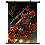 Home Decor Art Movie Poster with Deadpool Comic Wall Scroll Poster Fabric Painting 23.6 X 35.4 Inch (60cm X 90 cm)