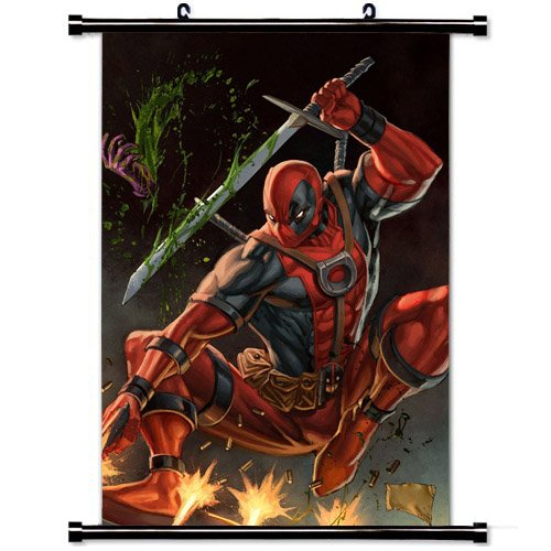 Home Decor Art Movie Poster with Deadpool Comic Wall Scroll Poster Fabric Painting 23.6 X 35.4 Inch (60cm X 90 cm) by Movie Art Poster