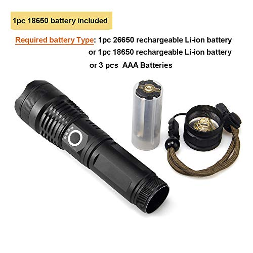 Amazon.com: Linterna recargable USB, MINCHEN 2700LM XHP50 ...