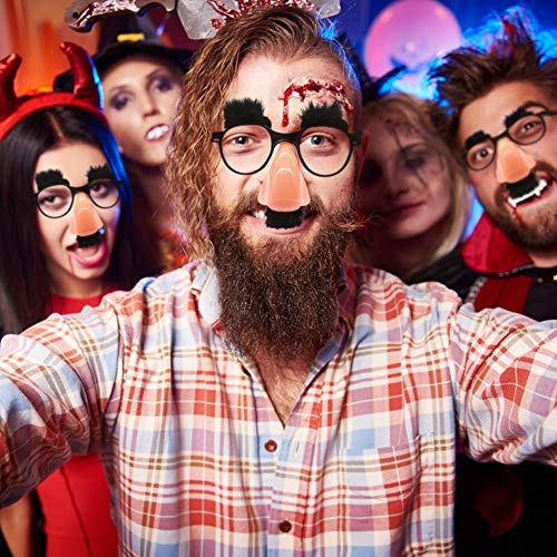 Bubble-Princess - Funny Eyebrow Nose With Mustache Costume Party Old Man Glasses Halloween Birthday Party DIY Decoration Po Props -