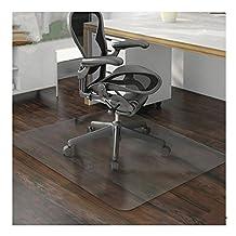 "GOTOBUYWORLD PVC Matte Desk Office Chair Floor Mat Protector for Hard Wood Floors 32"" x 32"" Chair Cushion Environmentally Friendly"
