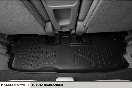 Amazon Com Smartliner Floor Mats 3 Row Liner Set Black For 2008