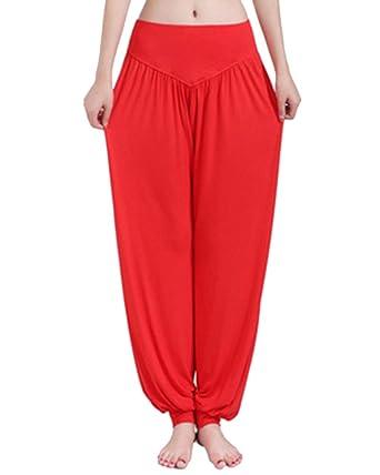 DianShao Pantalones De Yoga De Pretina Elástico Pantalones ...