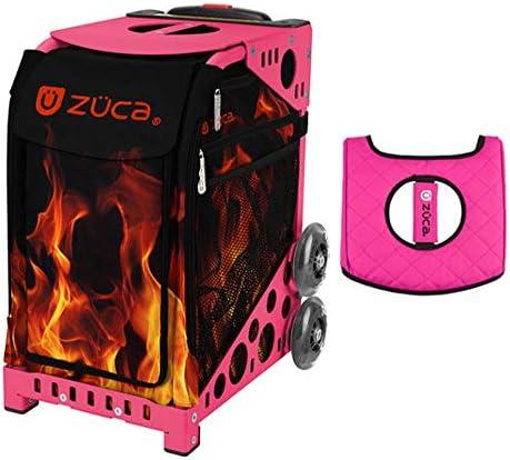 Z?CA INC Zuca スポーツバッグ - Blaze ギフト付き ブラック/ピンク シートカバー (ピンクフレーム)