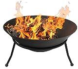 Gardeco EMRYS-60 60 cm Diameter Emrys Cast Iron Fire Bowl - Black