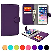 Sony Xperia SP / T / T LTE / TL / TX / Z / ZL phone case, COOPER SLIDER Mobile Cell Phone Wallet Protective Case Cover Casing with Open Camera & Credit Card Holder (Purple)