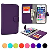 Acer Liquid C1/E1/E2/E3 (E380)/M220/Z200/Z220 phone case, COOPER SLIDER Mobile Cell Phone Wallet Protective Case Cover Casing with Open Camera & Credit Card Holder (Purple)
