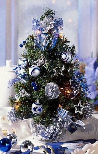 Weihnachtsbaum silber blau