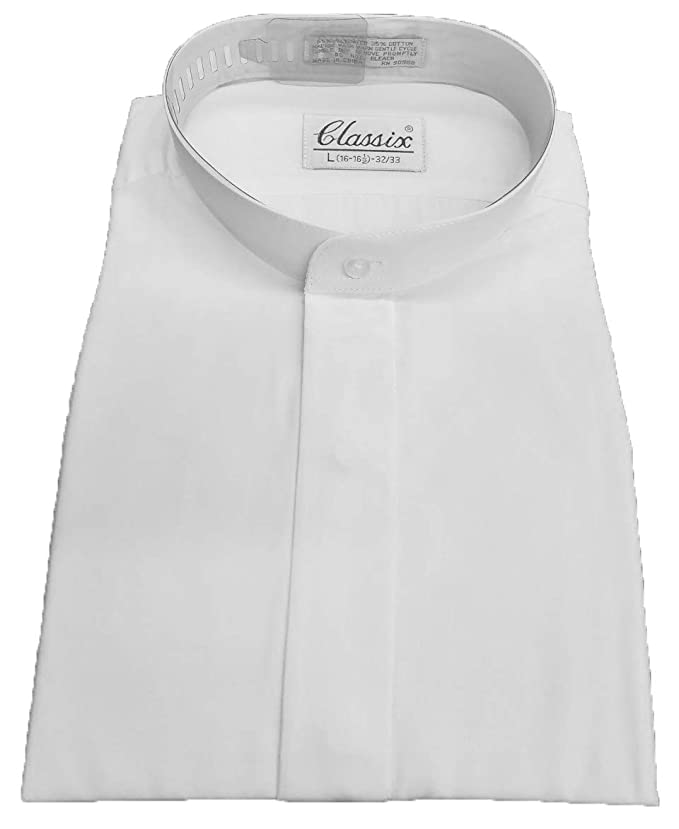 Amazon.com: OmegaTux camisa de vestir blanca con cuello de ...