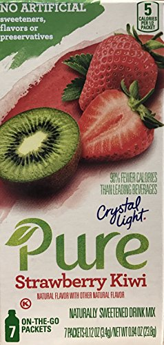 (Crystal Light Pure Strawberry Kiwi Drink Mix, 7 On-the-Go Packets (Pack of 4))