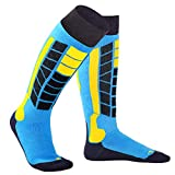 Soared Winter Ski Socks Snowboard Snow Warm Knee Over The Calf OTC High Performance 2 Pairs for 3-8 Years Old Kids Blue