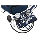 ADC Pro's Combo IV 769/641 Fanny Pack Kit with Pocket Aneroid Sphygmomanometer, Stethoscope, Shears and Penlight, Adult, Navy