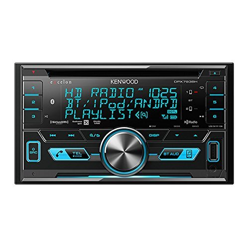 Kenwood Excelon DPX793BH In Dash Double Din CD Receiver with Built in Bluetooth and HD - Indash Kenwood Player Cd