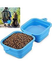 Hundenapf faltbar, Fressnapf für Hund und Katzen Reisenäpfe Tragbar 2 in 1 Wassernapf und Futternapf 1240ml/40oz