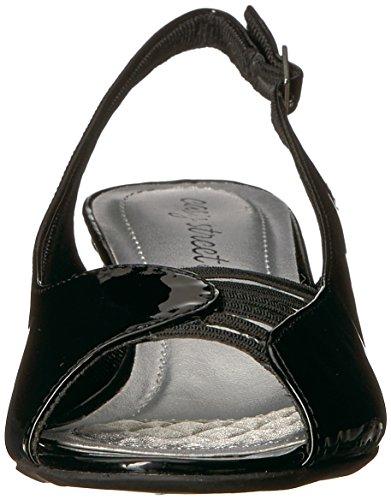 Sandal Street Enkle Sort Krenget Lykke Kvinners Patent FA4qwPUg4
