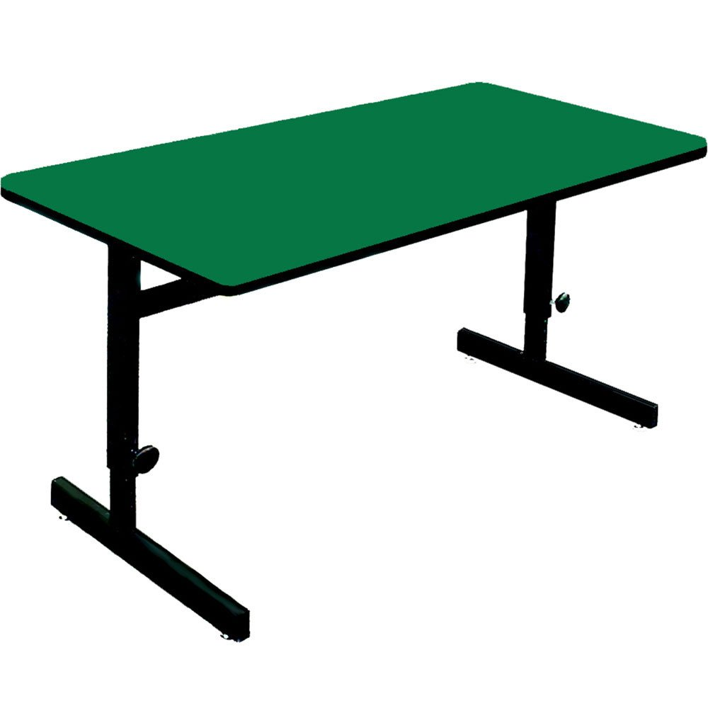 Amazon.com : High Pressure Adjustable Height Computer Table (24 In. X 60  In./Green) : Home Office Desks : Office Products