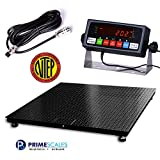 1000x0.2lb 60x60 inches Certified Scale CS2010 Heavy Duty Legal for Trade (NTEP) Floor Scale/Indicator Package with Easy to Read LCD Screen
