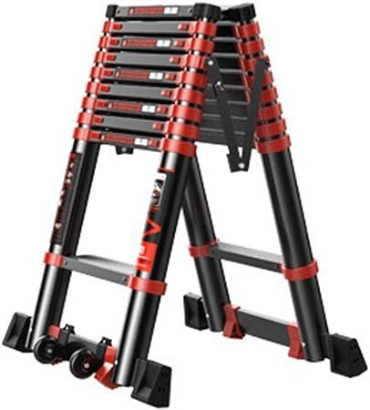 XSJZ Escalera de Extensión, Mini Escalera Portátil Telescópica Plegable Para Escaleras Interiores Y Exteriores Escalera de Ingeniería de Engrosamiento de Aleación de Aluminio (2 Tamaños) Escalera pleg: Amazon.es: Hogar