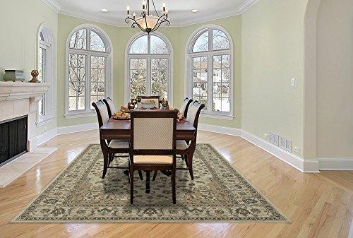 Cheap Gertmenian 78118 Traditional Rug Platinum High Density Persian Carpet, 8′ x 10'/Large, Ivory Medallion Border