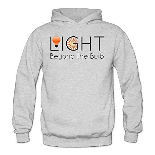 MARC Women's Light Beyond The Bulb Hooded Sweatshirt Ash Size L