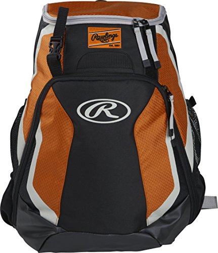 Rawlings R500 Series Baseball/Softball Backpack, Orange
