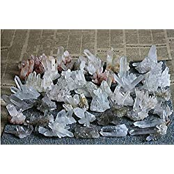 DishyKooker 100g A+ Natural Beautiful Clear Quartz Crystal Cluster Tibetan Specimen Show
