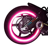 """NEW customTAYLOR33 Special Edition Hot Pink High Intensity Grade Reflective Copyrighted Safety Rim Tapes, 17"""" (Rim Size for Most Sportbikes)"""