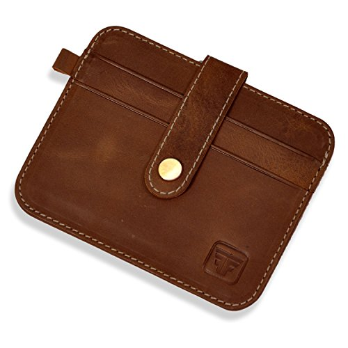 27a3c2edc57f Fashion Freak Leather Hunter Brown Credit Card Case