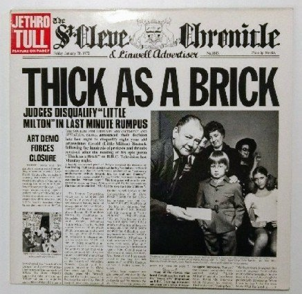 Thick As A Brick - Blue Label - EX