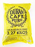 Cafe Duran Best Panama Coffee Highest Quality Whole Roasted Beans Coffee Duran 2.27kg (5 Pounds) Whole Bean Coffee